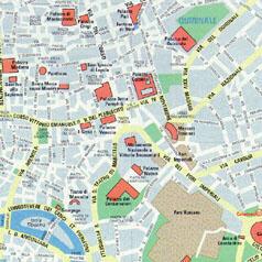 Rome map, Rome city map, Rome\'s centre map, Rome centro ...